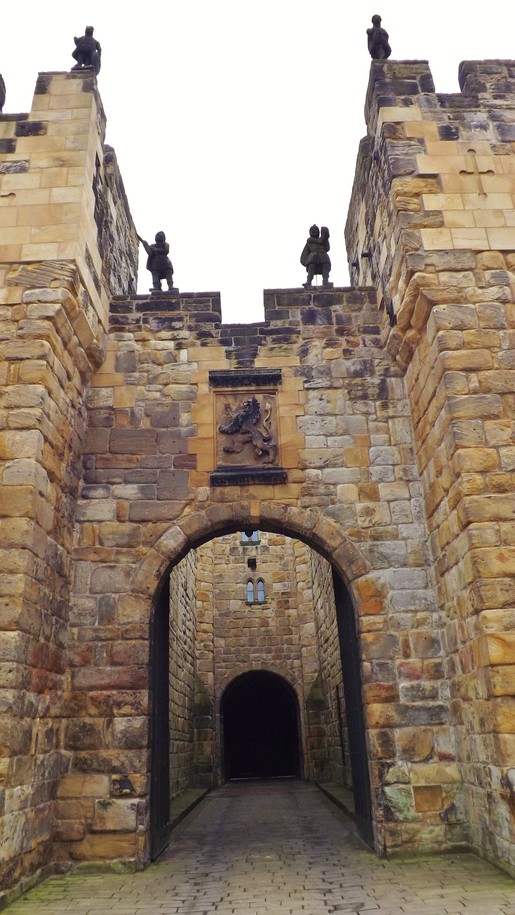 This Is The Main Entrance To Alnwick CastleNorthumberland Which Was Used In Early Harry Potter Films As Set For Hogwarts School